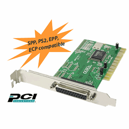 High-Speed Parallel Port PCI Printer I/O Card