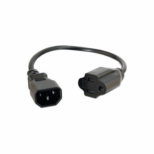 IEC320 C14 Plug To 3-Prong NEMA 5-15 Outlet Adapter Cord