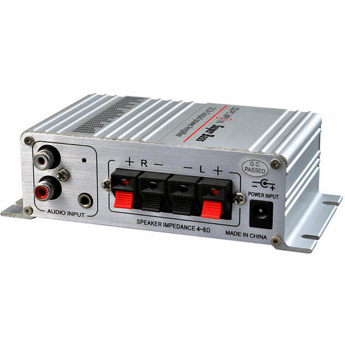 Mini Stereo Amplifier With 40W RMS Output + Volume/Tremble/Bass Controller