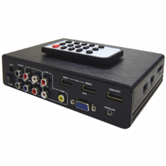 Multi-Input Analog Video To HDMI UHD 4Kx2K Converter + USB Media Player