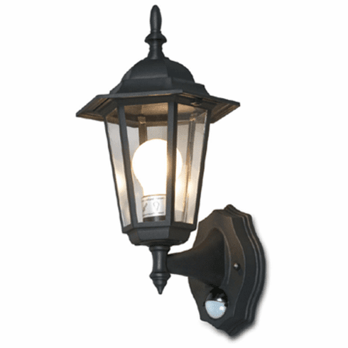 Outdoor Wall Lighting System With Motion Sensor -Black