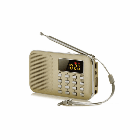 Portable FM Radio With MP3 Player Speaker Flashlight Functions