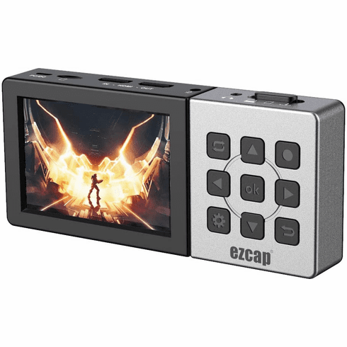 """Premium 2-In-1 HD 1080P60 Recorder MP4 Player With 3.5"""" LCD Screen + Scheduled Recording"""
