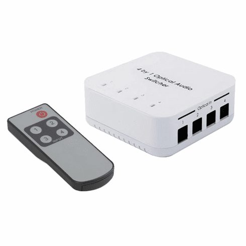 Premium 4-Port Digital Optical Audio Switch With Remote�Control