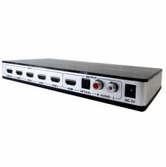 Premium 5-Port HDMI Audio Extractor + ARC Audio Converter + 4K HDMI 1.4 Switcher