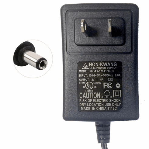 Premium AC/DC Switching Power Adapter With DC 12V 1.5A Output