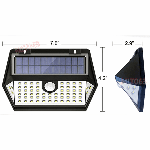 Premium Solar-Power Outdoor LED Light With PIR Motion Sensor