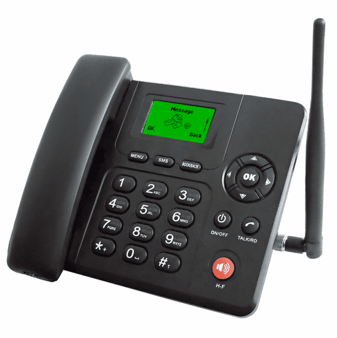 Premium Wireless 3G GSM Desk Phone With Text Message Voice Mail FM Tuner