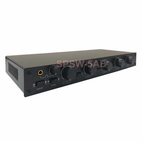 Professional 5-Zone Stereo Speaker Distribution Controller With Volume Controls