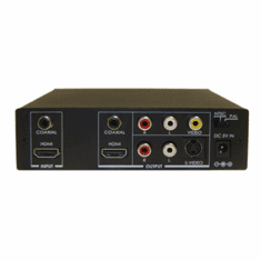 Professional HDMI DVI To Composite S-Video Down Converter With HDMI Audio Decoding
