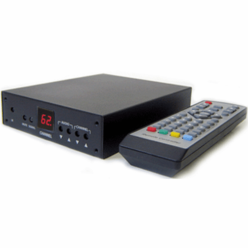 Professional RF Coax To Composite Video Audio Demodulator TV Tuner For PAL-I System