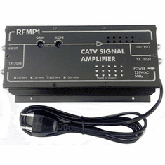 Professional RF Coax TV Signal Amplifier W/High 32dB Gain/AC 220V Power Supply