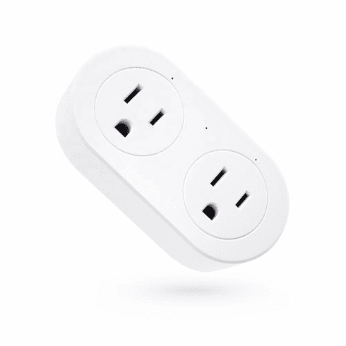Smart Wi-Fi Controlled Dual AC Outlets With Timer Function For Home Automation