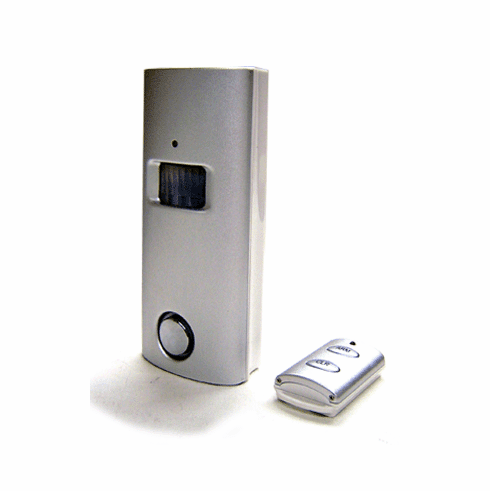 Solar-Powered Wide-Area Motion Detector Alarm With IR Remote