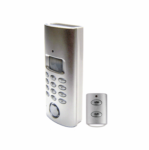 Wireless Solar Motion Alarm Sytem With Call-Out Dialer And IR Remote