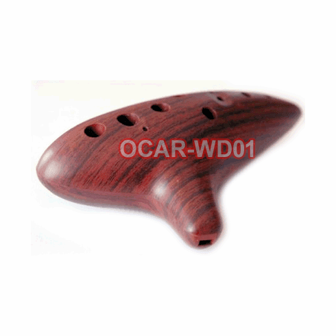 Wood Simulated 12-Hole Alto C Ocarina Flute With Quality Craftsmanship