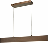 Abra 10095PN-BB Slim Modern Brushed Bronze LED 32  Kitchen Island Lighting