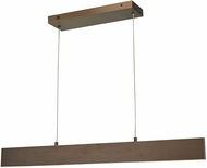 Abra 10096PN-BB Slim Modern Brushed Bronze LED 47  Island Light Fixture
