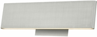 Abra 20001WV-BA Slim Contemporary Brushed Aluminum LED 12  Bathroom Lighting