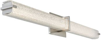 Abra 20010WV-BN Squire Contemporary Brushed Nickel LED 37.6  Bathroom Vanity Lighting