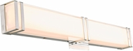Abra 20015WV-CH Cosmo Contemporary Chrome LED 24  Bath Wall Sconce
