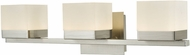 Abra 20023WV-BN Cubic Modern Brushed Nickel LED 3-Light Bathroom Light Fixture