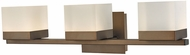 Abra 20023WV-BZ Cubic Contemporary Bronze LED 3-Light Bathroom Vanity Lighting
