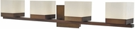Abra 20024WV-BZ Cubic Contemporary Bronze LED 4-Light Bathroom Sconce