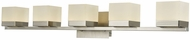 Abra 20025WV-BN Cubic Modern Brushed Nickel LED 5-Light Bath Sconce