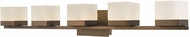 Abra 20025WV-BZ Cubic Contemporary Bronze LED 5-Light Vanity Light Fixture