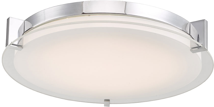 Abra 30011fm Ch Matrix Contemporary Chrome Led 14 Ceiling Lighting Fixture Abr