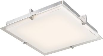 Abra 30012FM-CH Matrix Modern Chrome LED 12  Ceiling Light Fixture