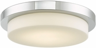 Abra 30016FM-CH Step Modern Chrome LED 16  Flush Mount Light Fixture