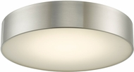 Abra 30032FM-BN Bongo Contemporary Brushed Nickel LED 16  Flush Mount Ceiling Light Fixture