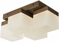 Abra 30055FM-BZ Cubic Contemporary Bronze LED Ceiling Lighting