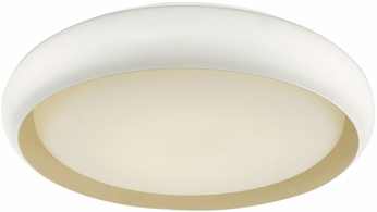Abra 30061FM-WH Euphoria Contemporary White LED 18  Ceiling Light Fixture