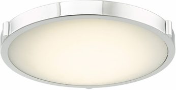Abra 30067FM-CH Halo Contemporary Chrome LED 17  Flush Ceiling Light Fixture
