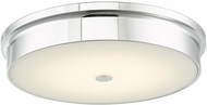 Abra 30098FM-CH Spark Contemporary Chrome LED 15  Overhead Lighting Fixture