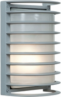 Access 20010LEDDMG-SAT-RFR Bermuda Contemporary Satin LED Exterior Bulkhead Lighting Sconce