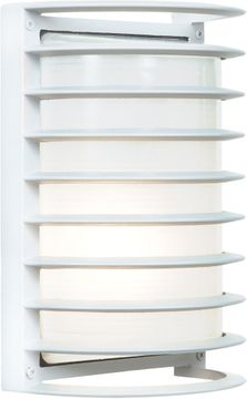 Access 20010LEDDMG-WH-RFR Bermuda Modern White LED Outdoor Bulkhead Lamp Sconce