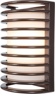 Access 20010LEDDMGLP-BRZ-RFR Bermuda Contemporary Bronze LED Exterior Bulkhead Sconce Lighting