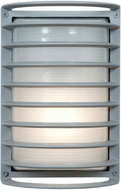 Access 20010LEDDMGLP-SAT-RFR Bermuda Modern Satin LED Outdoor Bulkhead Light Sconce