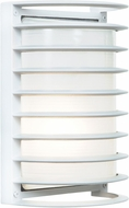 Access 20010LEDDMGLP-WH-RFR Bermuda Modern White LED Exterior Bulkhead Wall Sconce Lighting