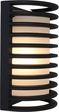 Access 20010MG-BL-RFR Bermuda Contemporary Marine Grade Black Outdoor Wall Sconce