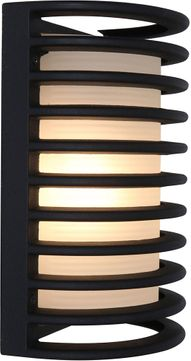 Access 20010MG-BL-RFR Bermuda Contemporary Black Exterior Bulkhead Wall Sconce