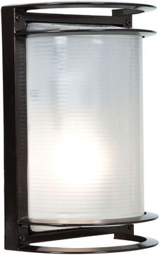 Access 20011LEDDMG-BRZ-RFR Nevis Contemporary Bronze LED Outdoor Bulkhead Wall Lighting Sconce