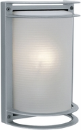 Access 20011LEDDMGLP-SAT-RFR Nevis Modern Satin LED Outdoor Bulkhead Wall Mounted Lamp