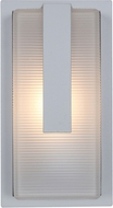 Access 20012LEDDMGLP-SAT-RFR Neptune Contemporary Satin LED Outdoor Bulkhead Wall Sconce Light