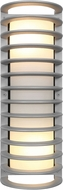 Access 20030LEDDMGLP-SAT-RFR Bermuda Contemporary Satin LED Outdoor Bulkhead Sconce Lighting