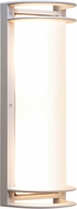 Access 20031MG-SAT-RFR Nevis Contemporary Marine Grade Satin Nickel Outdoor Wall Lighting Sconce